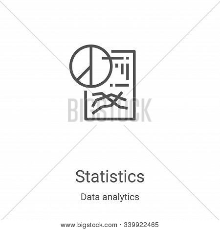 statistics icon isolated on white background from data analytics collection. statistics icon trendy