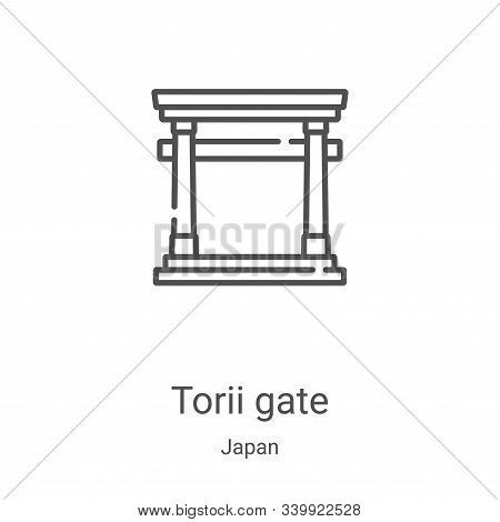 torii gate icon isolated on white background from japan collection. torii gate icon trendy and moder