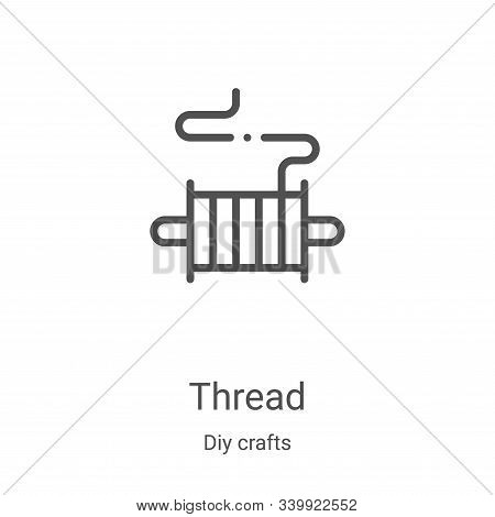 thread icon isolated on white background from diy crafts collection. thread icon trendy and modern t