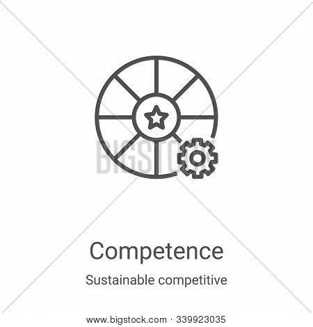competence icon isolated on white background from sustainable competitive advantage collection. comp