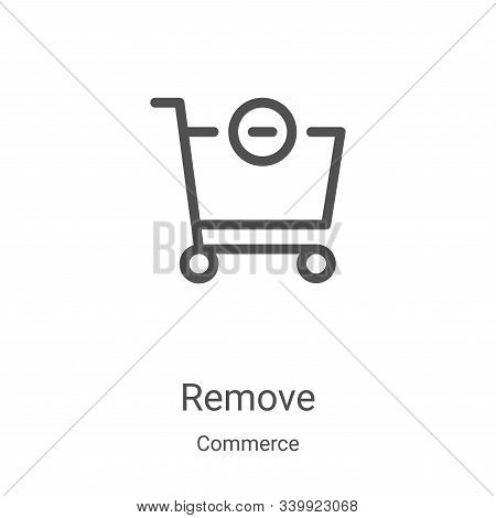 remove icon isolated on white background from commerce collection. remove icon trendy and modern rem