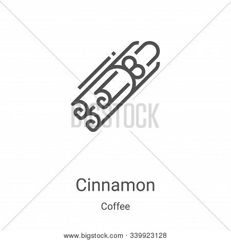 cinnamon icon isolated on white background from coffee collection. cinnamon icon trendy and modern c