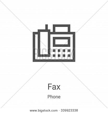 fax icon isolated on white background from phone collection. fax icon trendy and modern fax symbol f