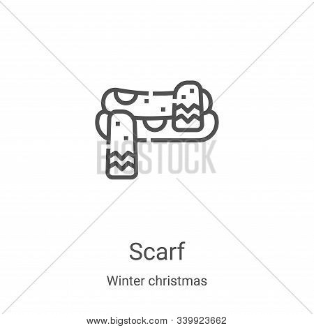 scarf icon isolated on white background from winter christmas collection. scarf icon trendy and mode