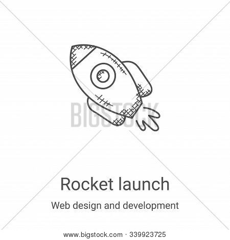 rocket launch icon isolated on white background from web design and development collection. rocket l