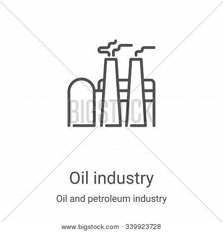 Oil industry icon isolated on white background from oil and petroleum industry collection. Oil indus