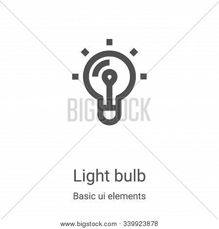 light bulb icon isolated on white background from basic ui elements collection. light bulb icon tren