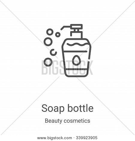 soap bottle icon isolated on white background from beauty cosmetics collection. soap bottle icon tre