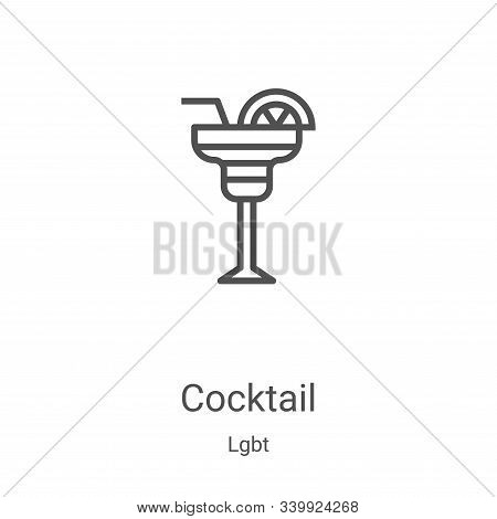 cocktail icon isolated on white background from lgbt collection. cocktail icon trendy and modern coc