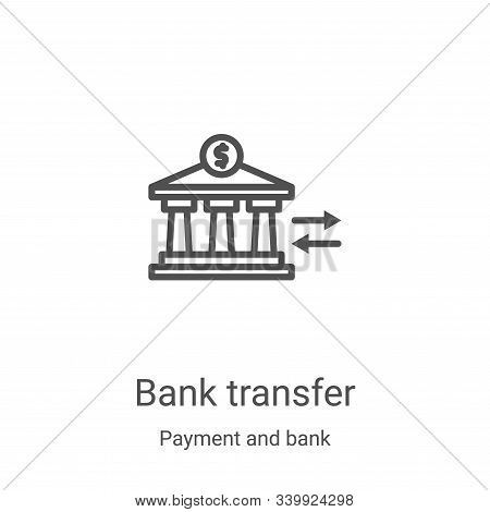 bank transfer icon isolated on white background from payment and bank collection. bank transfer icon