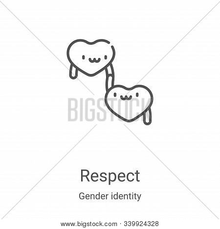 respect icon isolated on white background from gender identity collection. respect icon trendy and m