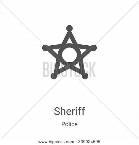 sheriff icon isolated on white background from police collection. sheriff icon trendy and modern she