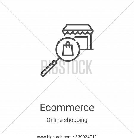 ecommerce icon isolated on white background from online shopping collection. ecommerce icon trendy a