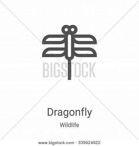 dragonfly icon isolated on white background from wildlife collection. dragonfly icon trendy and mode