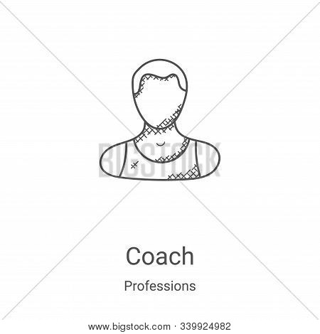 coach icon isolated on white background from professions collection. coach icon trendy and modern co