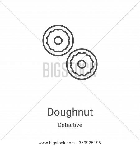 doughnut icon isolated on white background from detective collection. doughnut icon trendy and moder