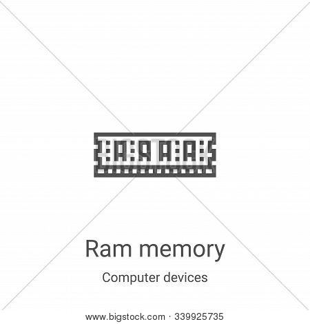 Ram Memory icon isolated on white background from computer devices collection. Ram Memory icon trend