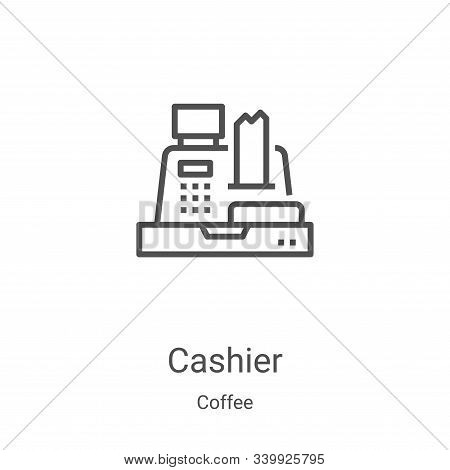 cashier icon isolated on white background from coffee collection. cashier icon trendy and modern cas
