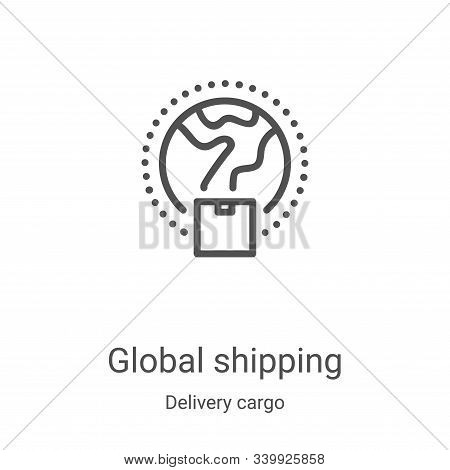 global shipping icon isolated on white background from delivery cargo collection. global shipping ic