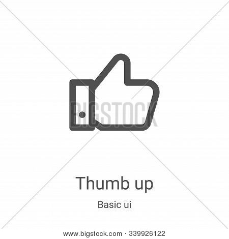 thumb up icon isolated on white background from basic ui collection. thumb up icon trendy and modern