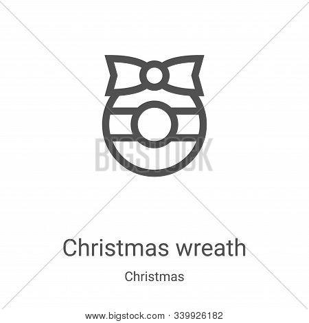 christmas wreath icon isolated on white background from christmas collection. christmas wreath icon