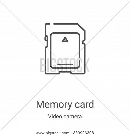 memory card icon isolated on white background from video camera collection. memory card icon trendy