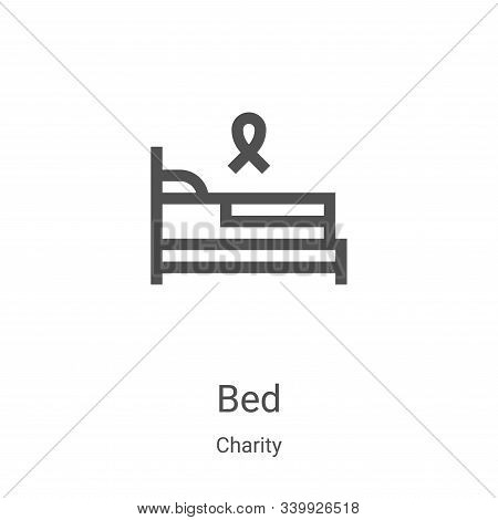 bed icon isolated on white background from charity collection. bed icon trendy and modern bed symbol