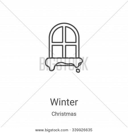 winter icon isolated on white background from christmas collection. winter icon trendy and modern wi