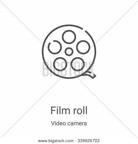 film roll icon isolated on white background from video camera collection. film roll icon trendy and