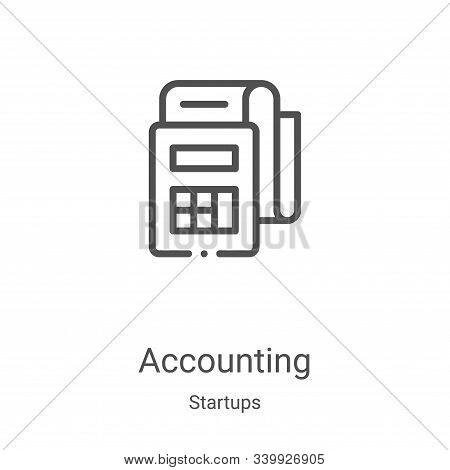 accounting icon isolated on white background from startups collection. accounting icon trendy and mo