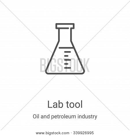 lab tool icon isolated on white background from oil and petroleum industry collection. lab tool icon