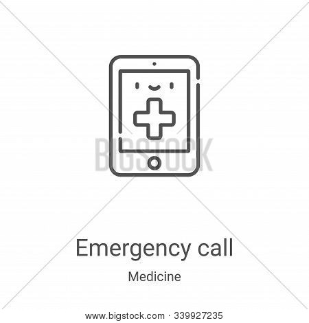 emergency call icon isolated on white background from medicine collection. emergency call icon trend