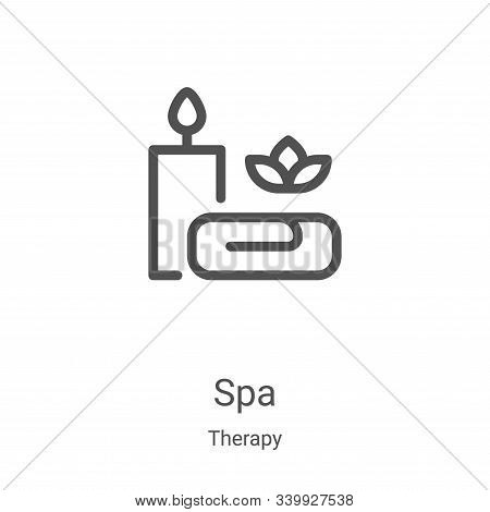 spa icon isolated on white background from therapy collection. spa icon trendy and modern spa symbol