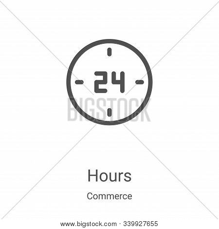 hours icon isolated on white background from commerce collection. hours icon trendy and modern hours