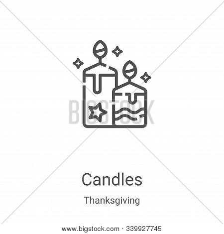 candles icon isolated on white background from thanksgiving collection. candles icon trendy and mode