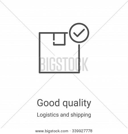 good quality icon isolated on white background from logistics and shipping collection. good quality
