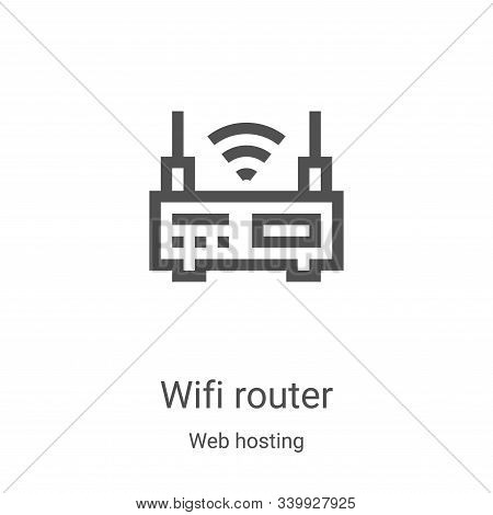 wifi router icon isolated on white background from web hosting collection. wifi router icon trendy a
