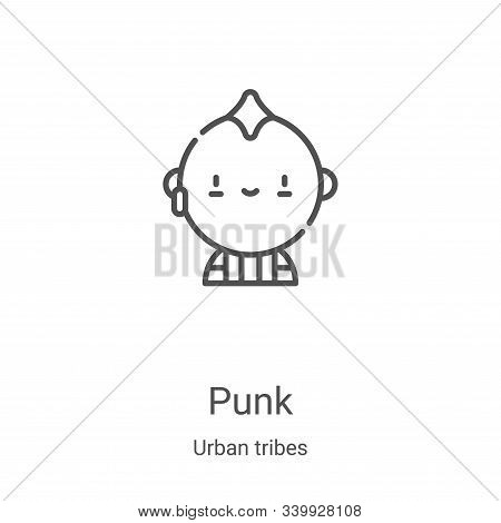 punk icon isolated on white background from urban tribes collection. punk icon trendy and modern pun
