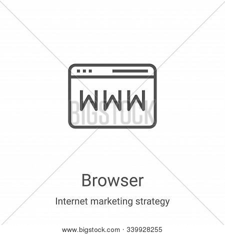browser icon isolated on white background from internet marketing strategy collection. browser icon