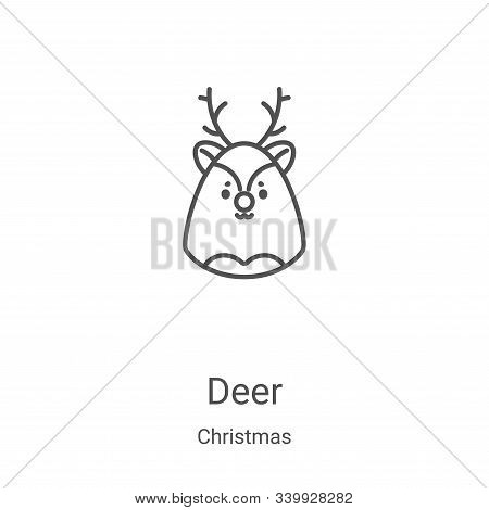 deer icon isolated on white background from christmas collection. deer icon trendy and modern deer s