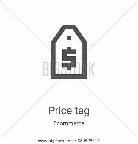 price tag icon isolated on white background from ecommerce collection. price tag icon trendy and mod
