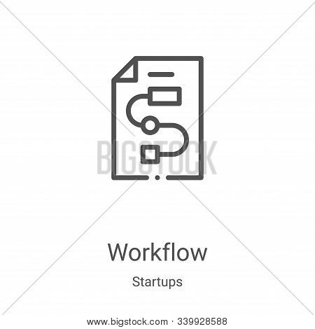 workflow icon isolated on white background from startups collection. workflow icon trendy and modern