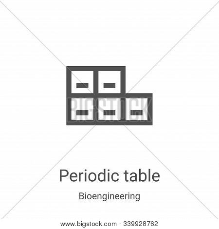 periodic table icon isolated on white background from bioengineering collection. periodic table icon