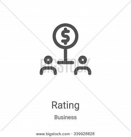 rating icon isolated on white background from business collection. rating icon trendy and modern rat
