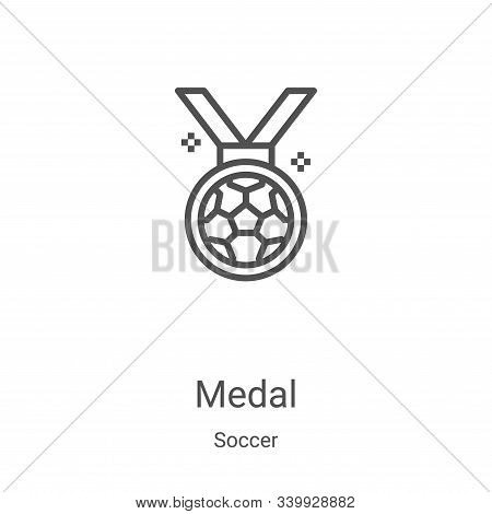 medal icon isolated on white background from soccer collection. medal icon trendy and modern medal s