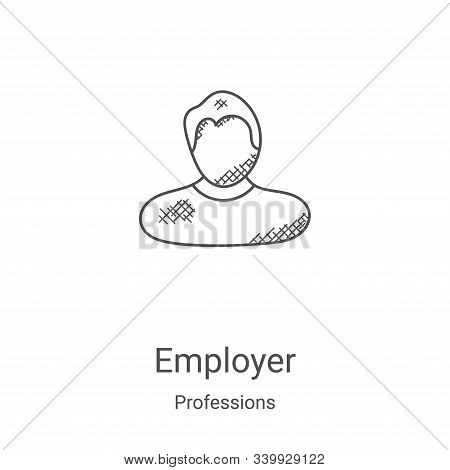 employer icon isolated on white background from professions collection. employer icon trendy and mod