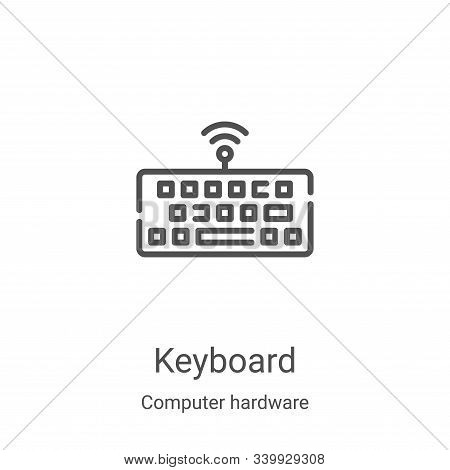 keyboard icon isolated on white background from computer hardware collection. keyboard icon trendy a