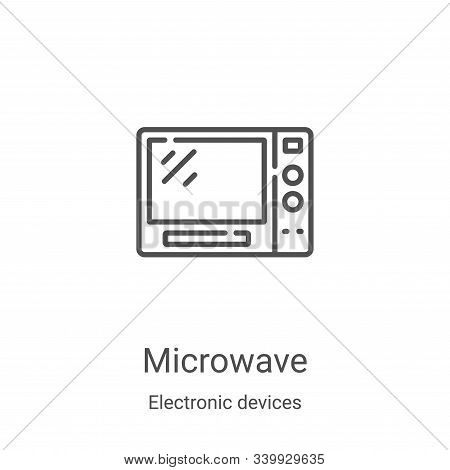 microwave icon isolated on white background from electronic devices collection. microwave icon trend