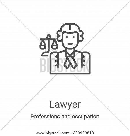 lawyer icon isolated on white background from professions and occupation collection. lawyer icon tre