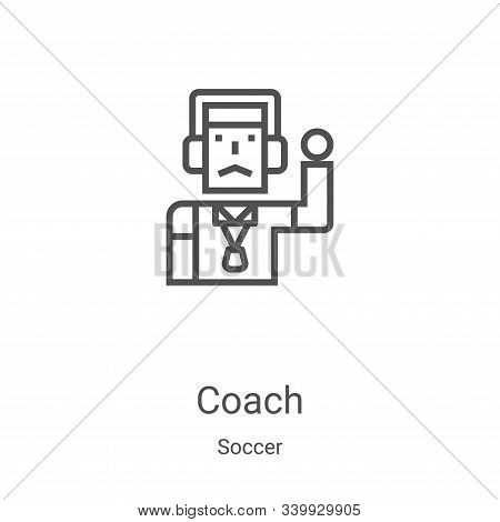 coach icon isolated on white background from soccer collection. coach icon trendy and modern coach s